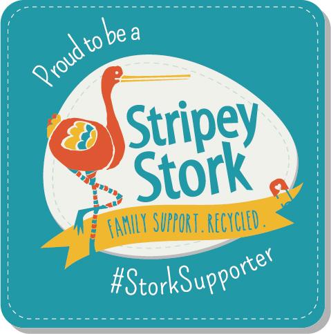Stripey Stork Logo